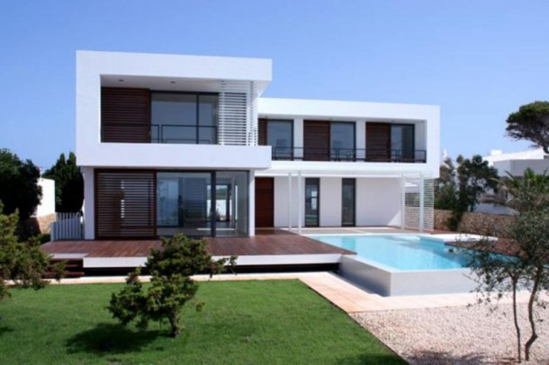 modern mediterranean house designs new home designs - House Designers