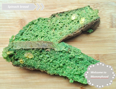 Welcome to Mommyhood: spinach bread