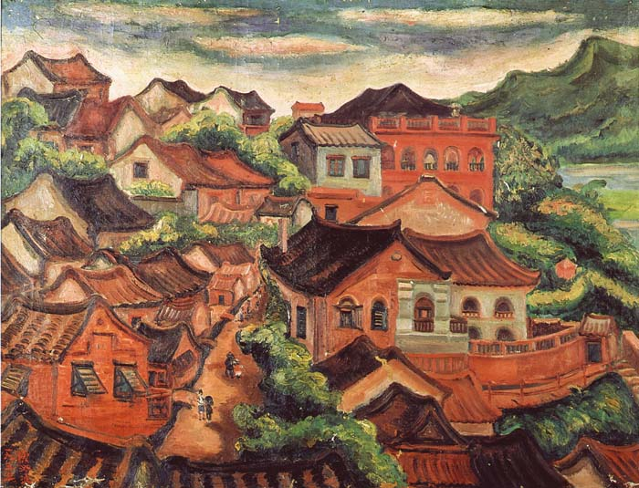 photo of tamsui painting in pierre chen art collection