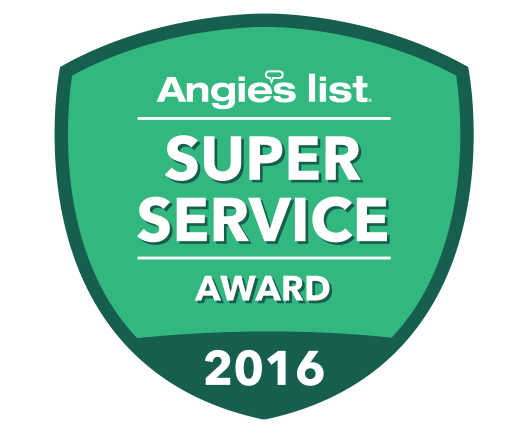 We are proud to have earned the Super Service Award from Angie's List for 2016!