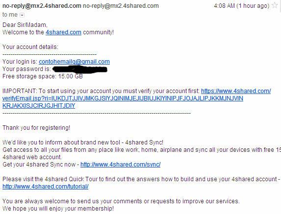 email pemberitahuan 4shared