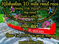 10 mile race nr Clonmel... Sun 10th Mar 2019