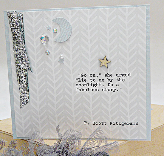 Great Gatsby card by Sian from From High in the Sky