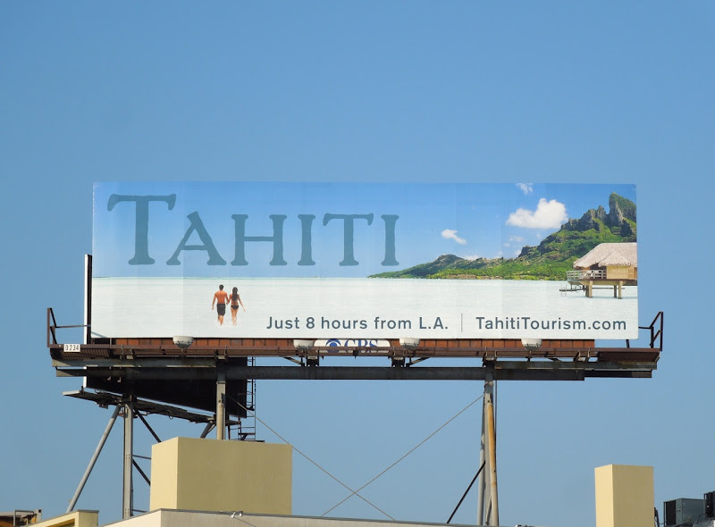 Tahiti travel billboard
