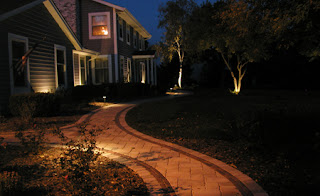 night view of landscape lighting