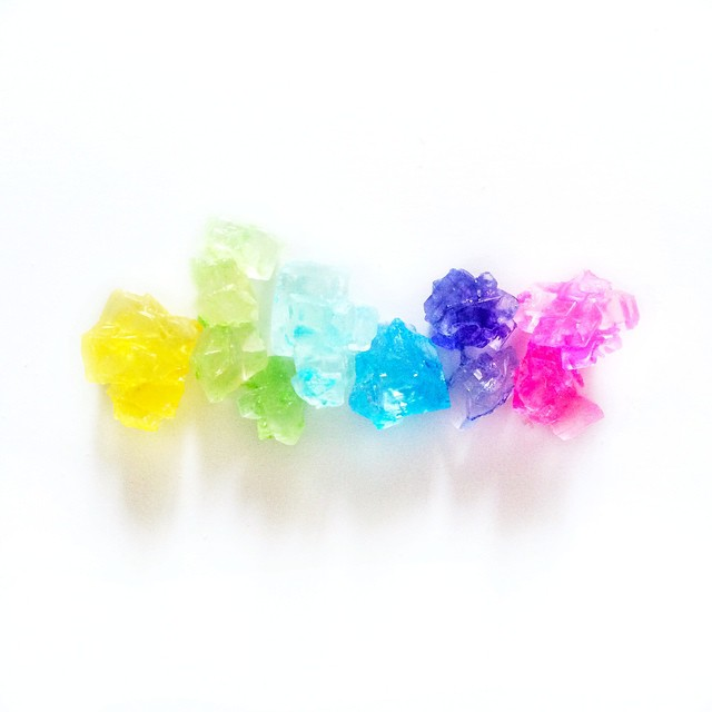 rainbow rock candy