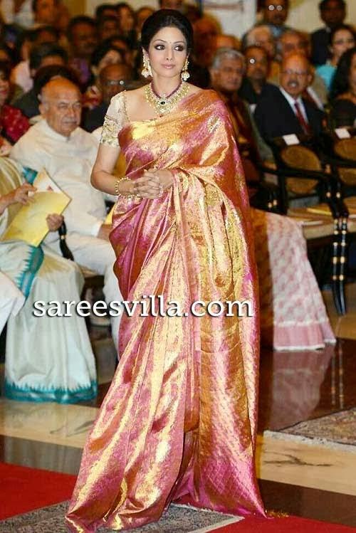Bollywood Actresses In Kanchipuram Silk Saree Sarees Villa