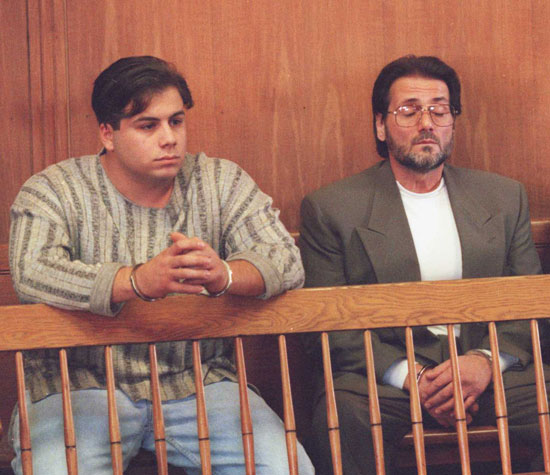 Damian At Their Arraignment In December 1995 Just A Few Weeks After They Allegedly Murdered Four Local Mobsters The 99 Restaurant Charlestown