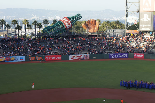 San Francisco Giants game at AT&T Park.