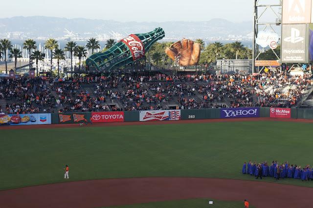 San Francisco Giants game at AT&T Park.