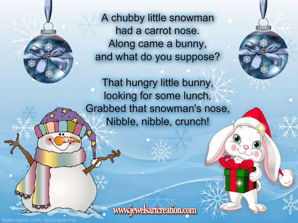 Snowman Poem ~ Jewels Art Creation