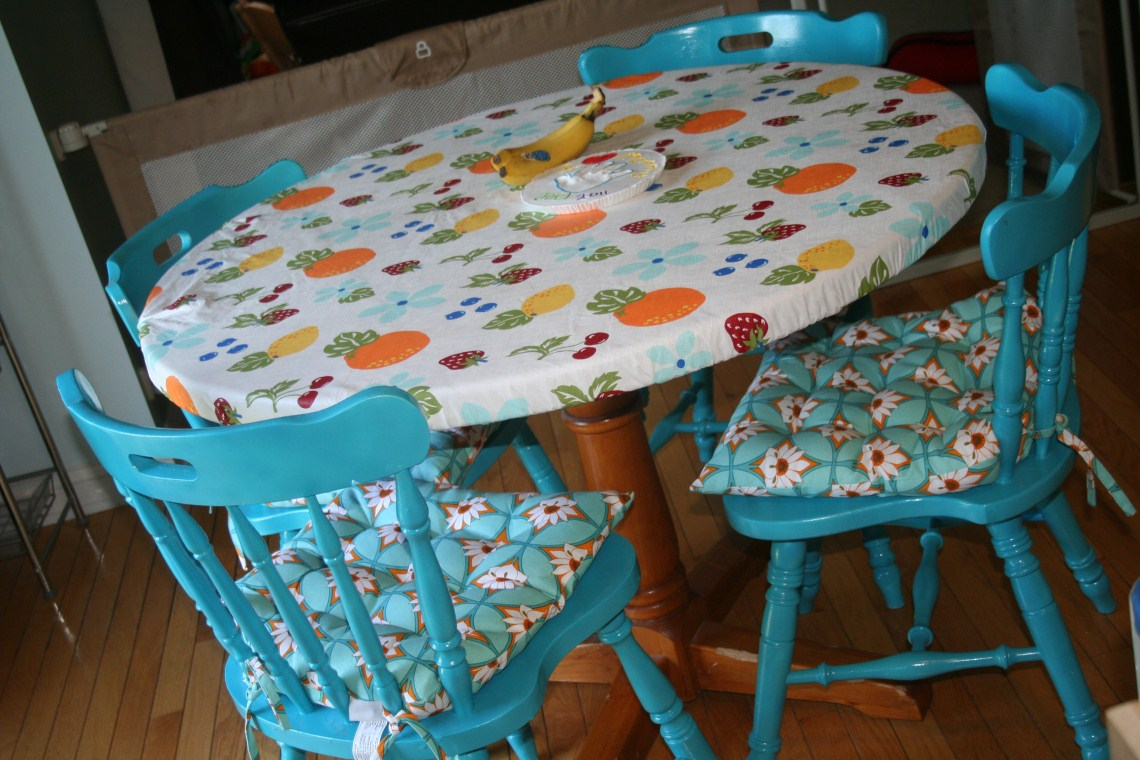 sewing chick kitchen table transformation