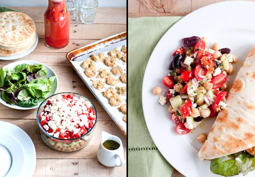 Layered Chickpea Salad Recipe with Oregano Vinaigrette