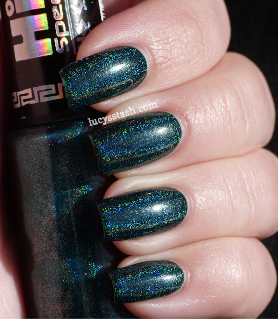 HITS No Olimpo Hera, holographic green teal colour