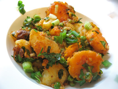 Indian-Style Potato and Pea Salad with Tamarind and Chat Masala