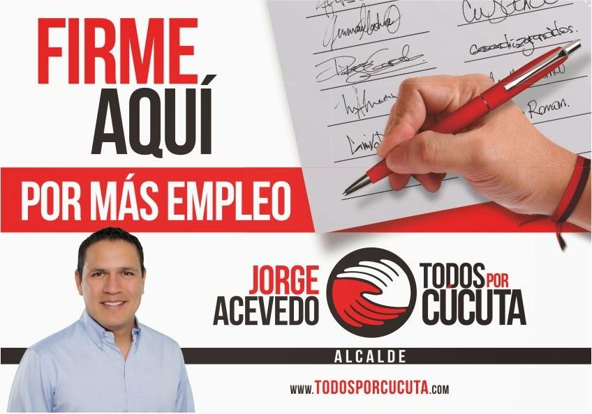 #JorgeAcevedoAlcalde de #Cúcuta, líderes, amigos y simpatizantes recogen firmas de apoyo