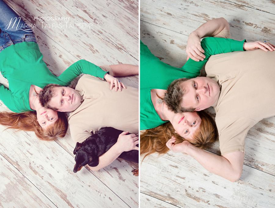 ema ja isa pildistamas-koer