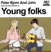 Capa do Single 'Young Folks' de Peter, Bjorn and John, com a participação da Victoria Bergman