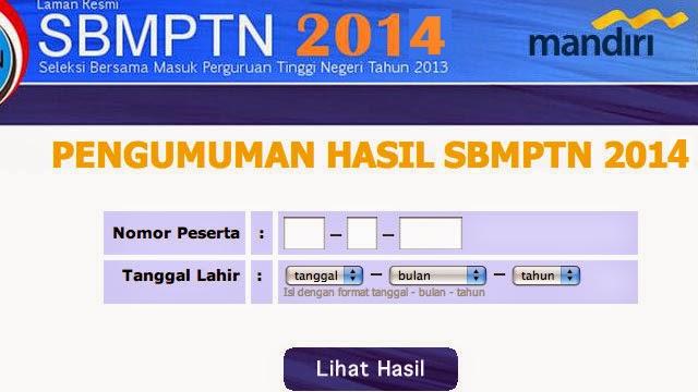 Pengumuman SBMPTN 2014