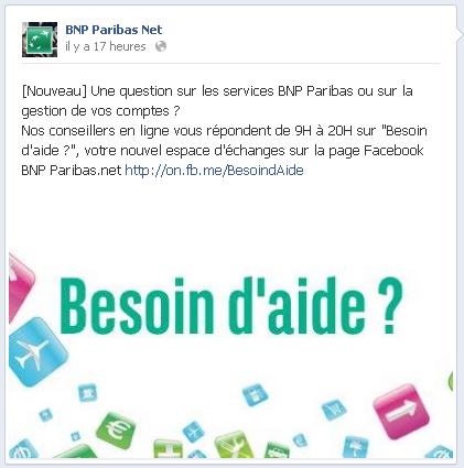 SAV BNP Paribas sur Facebook