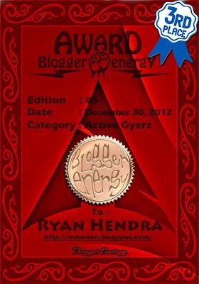 Award Best Active Gyers | Grub Blogger Energy