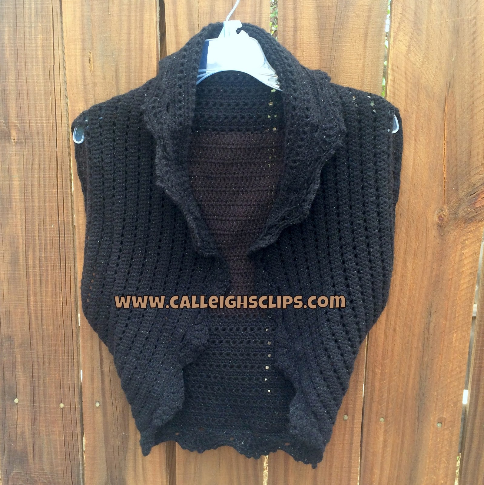 Calleighs Clips Crochet Creations Drops Waistcoat Pattern Review