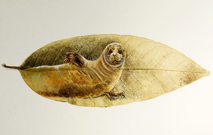 07-Seal-Pang Yande-Leaf-Painting-Folk-Art-and-Environmental-Protection-www-designstack-co
