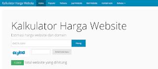 Cara Mengetahui Harga Website Dan Blog