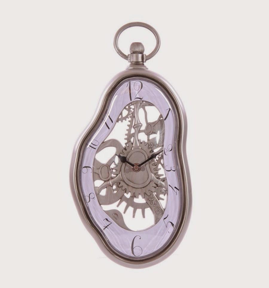 Reloj de pared DAlÍ con engranajes