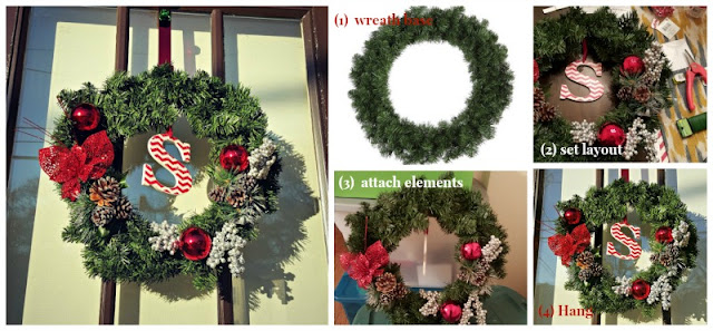 DIY wreath photos with intstructions