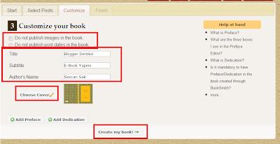 Blogger E-Kitap Oluşturmak