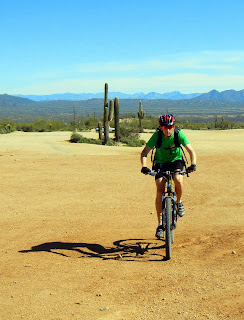 Sky biking at McDowell Mountain Regional Park