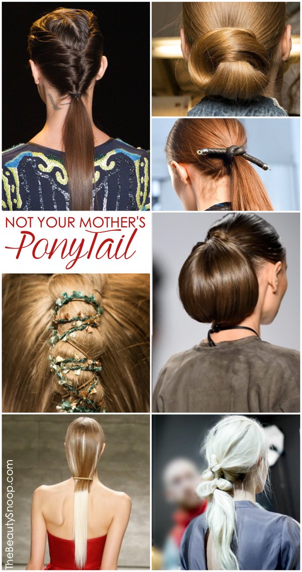 Pony Tail Ideas, Unusual Ponytails, NYFW hair trends Fall 2015 runways