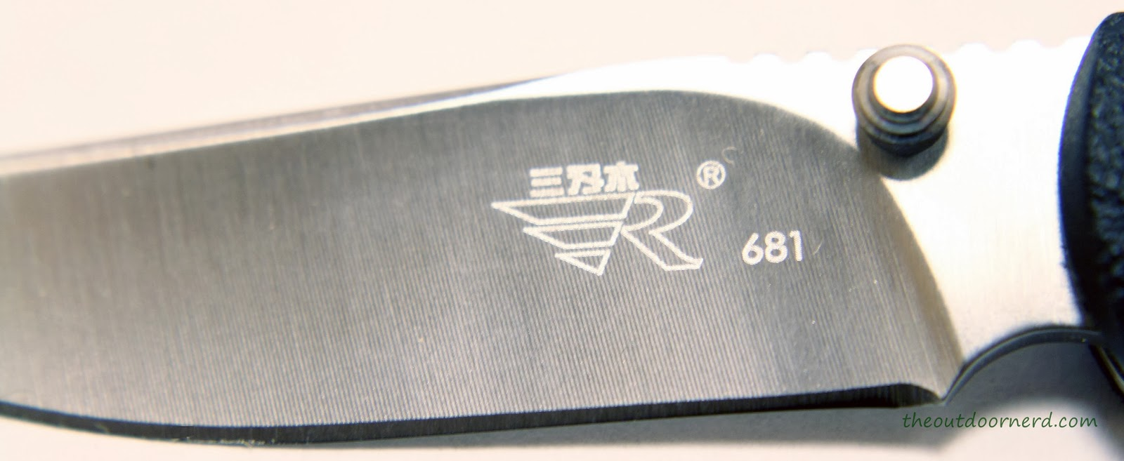 SanRenMu ZB-681 Pocket Knife - Closeup Of Blade 3