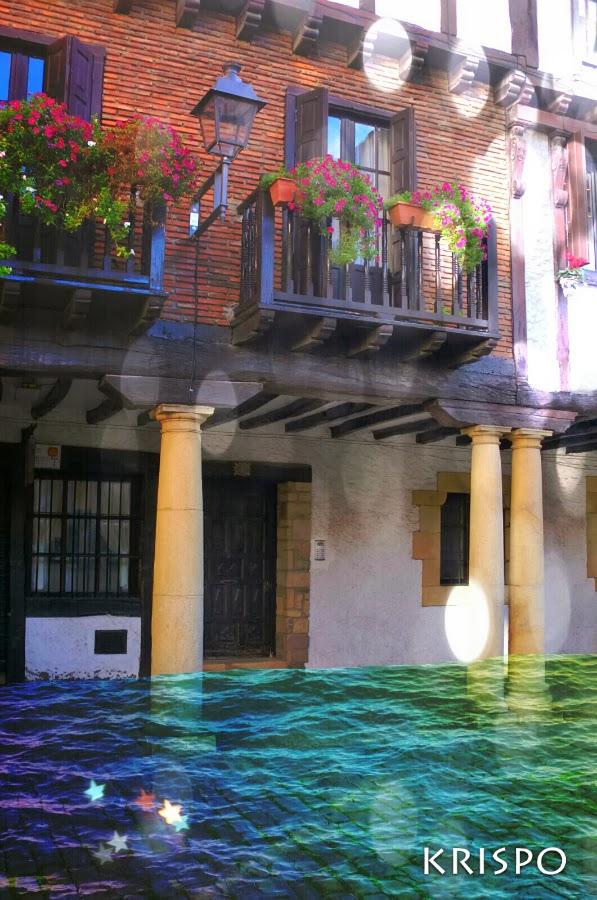 fotomontaje de calle inundada en hondarribia