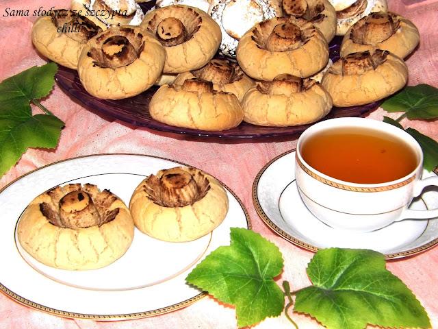 Pieczarki o smaku Cappucino orzechowym .
