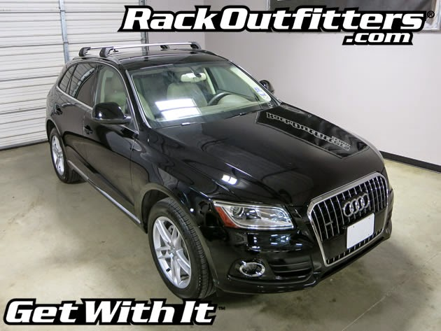 rack outfitters new audi q5 whispbar silver rail bar base. Black Bedroom Furniture Sets. Home Design Ideas