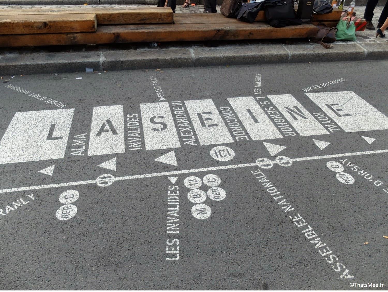 map carte sol restaurant terrasse sur seine Les Berges Port Pont Alexandre III Paris (c) Thatsmee.fr