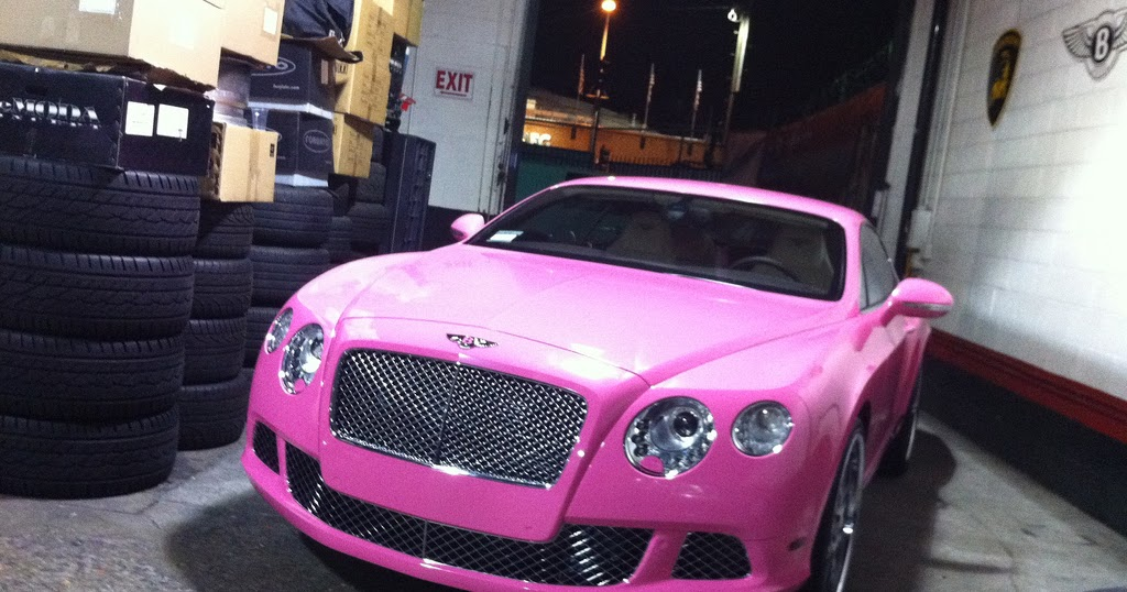 Nicki Minaj Pink Bentley Celebrities Cars