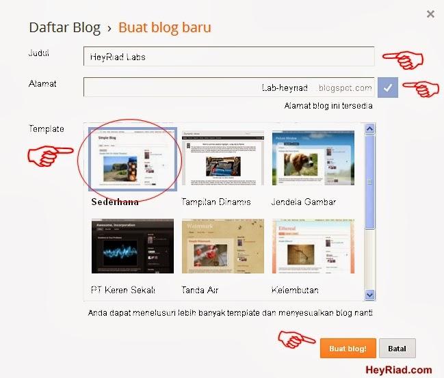 Langkah membuat blog diblogger
