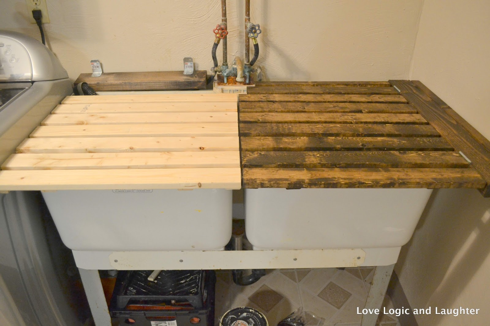 Utility Sink With Cover : Logic and Laughter: Utility Sink Cover Tutorial