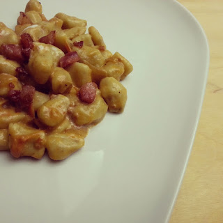 topini ai funghi porcini con sugo di pomodori ciliegini e pancetta