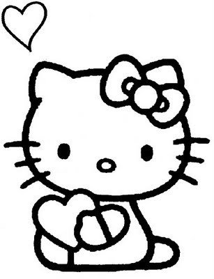 Preschool Coloring Sheets: Kitty Coloring Pages