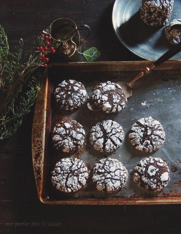 Chocolate ginger crinkle cookie recipe