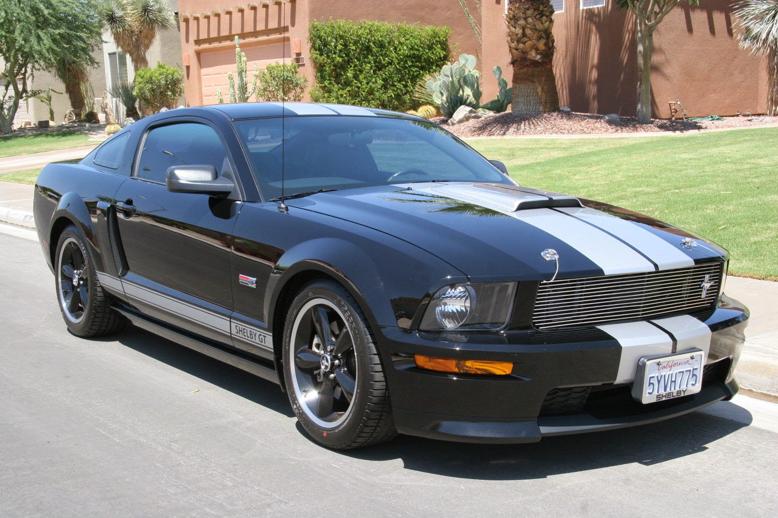 2007 ford mustang shelby gt black silver