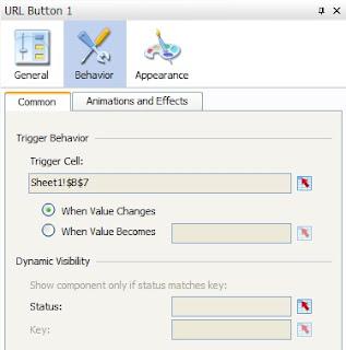URL Button Behavior Properties