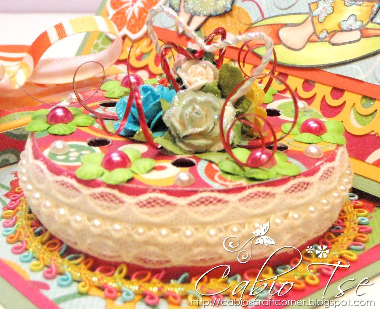 Cabio's Craft Corner: Tropical Hawaiian Wedding Cake Card
