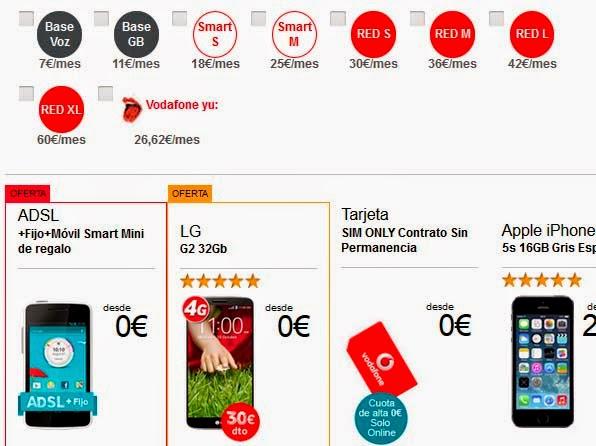 Ofertas móviles Vodafone en abril 2014