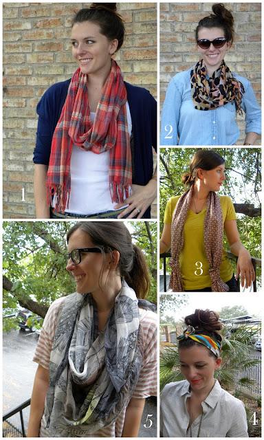 five fun ways to wear a scarf