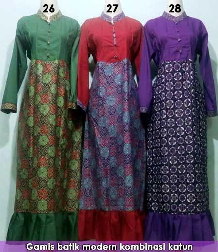 Koleksi Baju Gamis Batik Dan Sarimbit Modern Untuk Lebaran